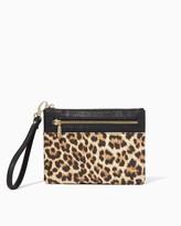 Charming charlie Wild Child Leopard Wristlet
