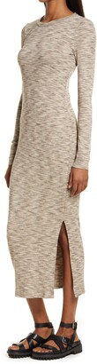 French Connection Long Sleeve Space Dye Knit Dress