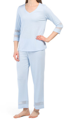 Capri Pj Set With Mesh Details