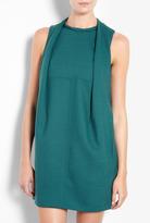 Carven Pleat Front Wool Mix Dress