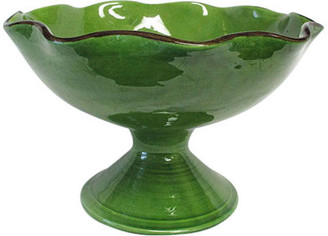 Souleo è Provence® Pottery Souleo e Provence Pottery   Artisan Footed Fruit Bowl
