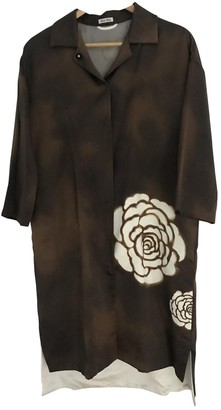 Miu Miu Brown Silk Coat for Women
