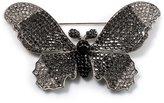 Avalaya Gigantic Pave Swarovski Crystal Butterfly Brooch (Clear&Black)