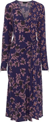 Rag & Bone Odette Wrap-effect Floral-print Crepe Midi Dress