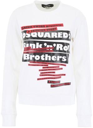DSQUARED2 Logo Print Crewneck Sweater
