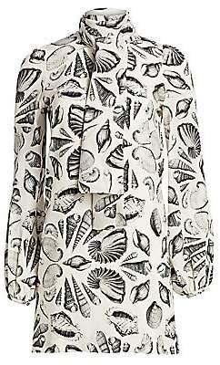 Alexander McQueen Women's Silk Shell Scarf Dress