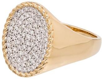 Yvonne Léon 18kt Gold Diamond Signet Ring
