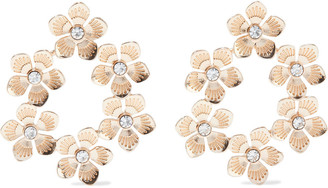 Kenneth Jay Lane 18-karat Gold-plated Crystal Earrings
