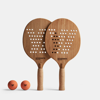 James Perse Y/Osemite Etched Teak Paddleball Set