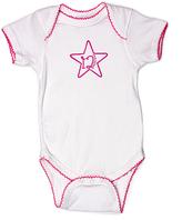 Princess Linens White & Raspberry '12 Months' Bodysuit - Infant
