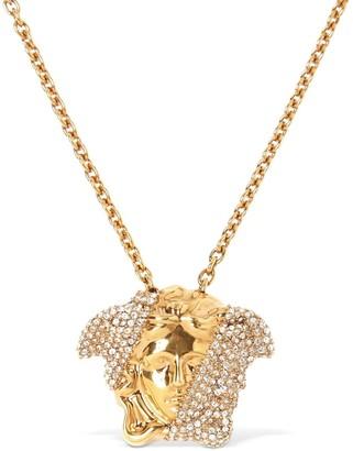 Versace Bicolor Crystal Medusa Necklace