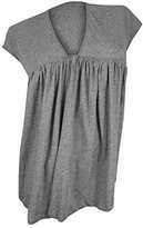 See by Chloe Women's Grey Baby Doll Knit Top