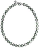 Majorica Silver-Tone Gray Imitation Pearl Collar Necklace