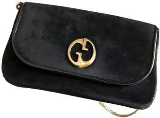 Gucci 1973 Black Suede Clutch bags