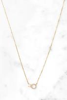 Tai Vermeil Pave Circle Opal Necklace White