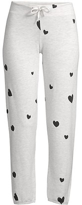 Monrow Cotton-Blend Heart Lounge Pants
