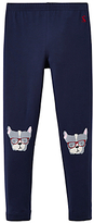 Joules Little Joule Girls' Puppy Character Leggings, French Navy