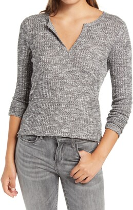 Socialite Long Sleeve Thermal Henley Top