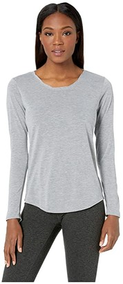 Brooks Distance Long Sleeve Top (Heather Ash) Women's Long Sleeve Pullover