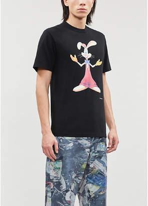Facetasm Graphic-print cotton-jersey T-shirt