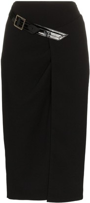 Givenchy Sheath Wool Crepe Pencil Skirt