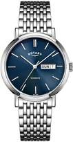 Rotary Windsor Men's Stainless Steel Bracelet Watch