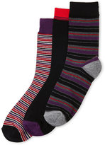 Ben Sherman 3-Pack Quentin Stripe Crew Socks