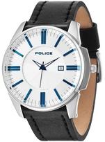 Police Silver Dial Black Strap Watch 14384js/04