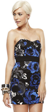 Forever 21 Watercolor Roses Dress