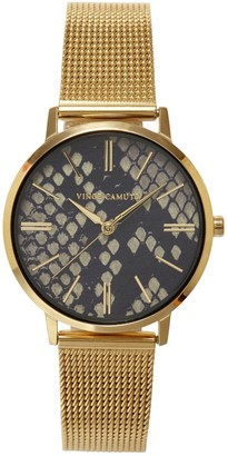 Vince Camuto Snake-print-dial Watch