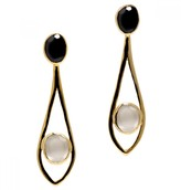 Mela Artisans Dewdrop in White Earrings