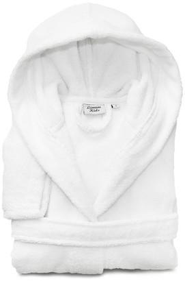 Linum Home Textiles Linum Kids 100% Turkish Cotton Hooded Terry Bathrobe, Soft White, Smal