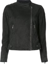 Just Female classic biker jacket - women - Polyester/Goat Suede - XS