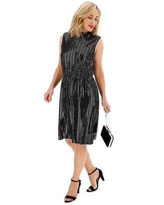 Junarose Sparkle Below Knee Dress