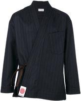 Umit Benan pinstripe kimono style jacket