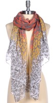Printed Village Leopard Layers Scarf