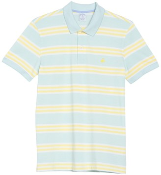 Brooks Brothers Striped Pique Polo