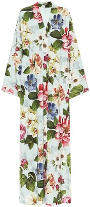 Dolce & Gabbana Floral-printed crepe dress