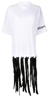 Palm Angels fringed hem short-sleeve T-shirt