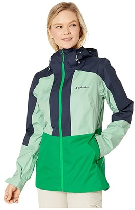 Columbia Windgatestm Jacket (Dark Lime/New Mint/Nocturnal) Women's Coat