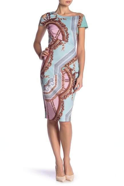 Ted Baker Versailles Print Sheath Midi Dress