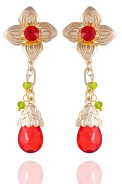 Nanette Lepore Winter Garden Flower Drop Earrings