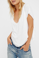 Free People White Cookie Tee