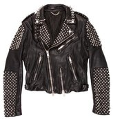 Burberry Spiked Leather Jacket