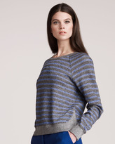 T by Alexander Wang Striped French Terry Sweater