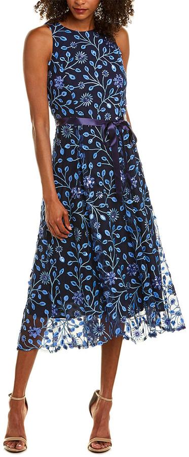 Tahari by Arthur S. Levine Tahari Asl Midi Dress