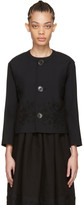 Comme des Garcons Black Floral Embroidery Jacket