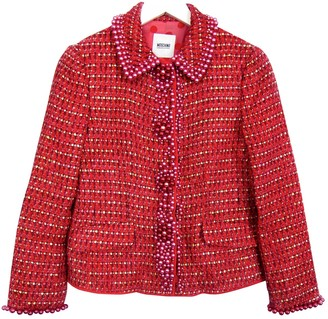 Moschino Cheap & Chic Moschino Cheap And Chic Red Wool Jacket for Women