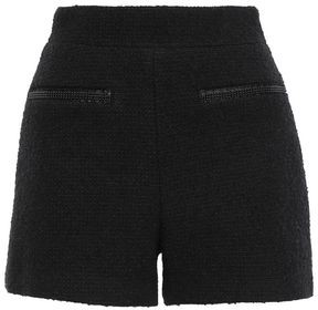 Maje Bead-embellished Boucle-tweed Shorts