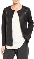 Eileen Fisher Women's Rumpled Luxe Leather & Knit Jacket